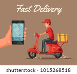 fast and free delivery. vector... | Shutterstock .eps vector #1015268518