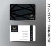 modern business card template... | Shutterstock .eps vector #1015274413