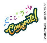 congratulations greeting card... | Shutterstock .eps vector #1015275070