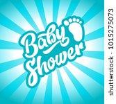boy baby shower invitation card ... | Shutterstock .eps vector #1015275073