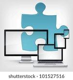 puzzle concept. information... | Shutterstock .eps vector #101527516