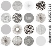 vector fabric circles abstract... | Shutterstock .eps vector #1015279213