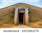 native american earth lodge...   Shutterstock . vector #1015281274