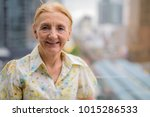 portrait of beautiful senior... | Shutterstock . vector #1015286533