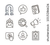 inbound marketing icon set with ... | Shutterstock .eps vector #1015286626