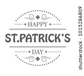 st. patricks day holiday badge... | Shutterstock .eps vector #1015286809