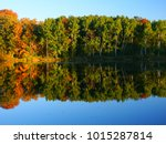 beautiful fall colors reflect... | Shutterstock . vector #1015287814