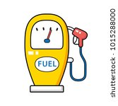 gas fuel pump cartoon icon... | Shutterstock .eps vector #1015288000