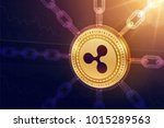 ripple. crypto currency. block... | Shutterstock .eps vector #1015289563