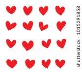 love heart shape vector | Shutterstock .eps vector #1015291858