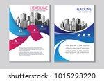 design blue cover book. blue... | Shutterstock .eps vector #1015293220