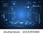 abstract technology ui... | Shutterstock .eps vector #1015293484