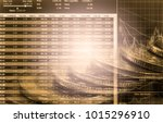 stock market or forex trading... | Shutterstock . vector #1015296910