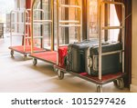 hotel luggage cart   baggage... | Shutterstock . vector #1015297426