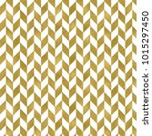 seamless gold foil chevron... | Shutterstock . vector #1015297450