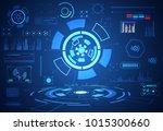 abstract technology ui...   Shutterstock .eps vector #1015300660