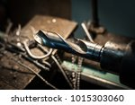 large and powerful automatic... | Shutterstock . vector #1015303060
