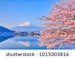 lake kawaguchiko  where mt....   Shutterstock . vector #1015303816