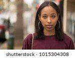 young black woman portrait face ...   Shutterstock . vector #1015304308