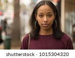 young black woman portrait face ...   Shutterstock . vector #1015304320