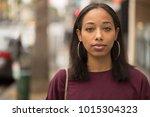 young black woman portrait face ... | Shutterstock . vector #1015304323