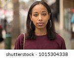 young black woman portrait face ...   Shutterstock . vector #1015304338