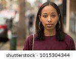 young black woman portrait face ...   Shutterstock . vector #1015304344