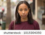 young black woman portrait face ...   Shutterstock . vector #1015304350
