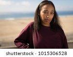 young black woman face portrait ... | Shutterstock . vector #1015306528