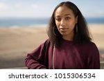 young black woman face portrait ... | Shutterstock . vector #1015306534