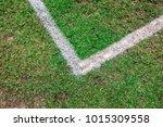 white corner on a football...   Shutterstock . vector #1015309558