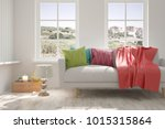 idea of white room with sofa... | Shutterstock . vector #1015315864