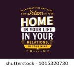 islam beautifies anything ... | Shutterstock .eps vector #1015320730