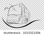 sketch of modern big bus  low... | Shutterstock .eps vector #1015321306
