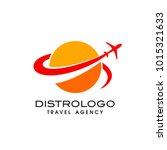 travel agency vector logo... | Shutterstock .eps vector #1015321633