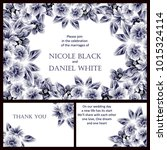 invitation with floral... | Shutterstock .eps vector #1015324114