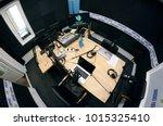 computers  microphones ... | Shutterstock . vector #1015325410