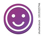 smile icon. vector. white icon... | Shutterstock .eps vector #1015325746