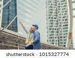 architect and engeneer on... | Shutterstock . vector #1015327774