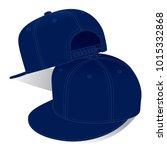 navy hip hop hat   snap back...