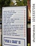 store menu list | Shutterstock . vector #1015337356