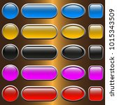 colorful set of web buttons... | Shutterstock .eps vector #1015343509
