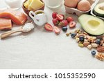 keto  ketogenic diet  low carb  ... | Shutterstock . vector #1015352590