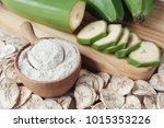 raw and dried green bananas ... | Shutterstock . vector #1015353226