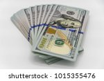 a stack of us 100 dollars cash...   Shutterstock . vector #1015355476