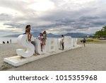 jan 27  2018 tourists take...   Shutterstock . vector #1015355968