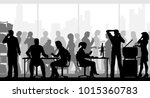 editable vector silhouettes of... | Shutterstock .eps vector #1015360783