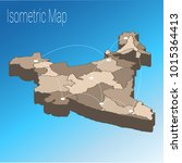 map india isometric concept. 3d ... | Shutterstock .eps vector #1015364413