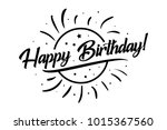 happy birthday card. beautiful... | Shutterstock .eps vector #1015367560