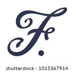 logo of the letter f. vector...   Shutterstock .eps vector #1015367914